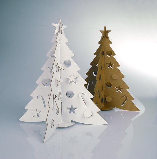 Поделка елка из картона