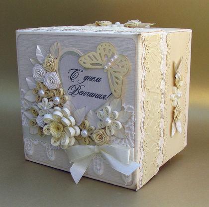Свадебные коробки для денег своими руками с фото