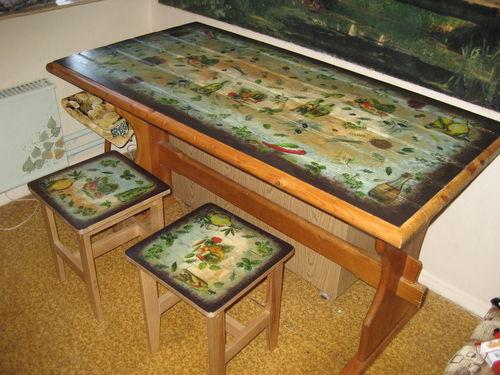 Декор стола своими руками фото