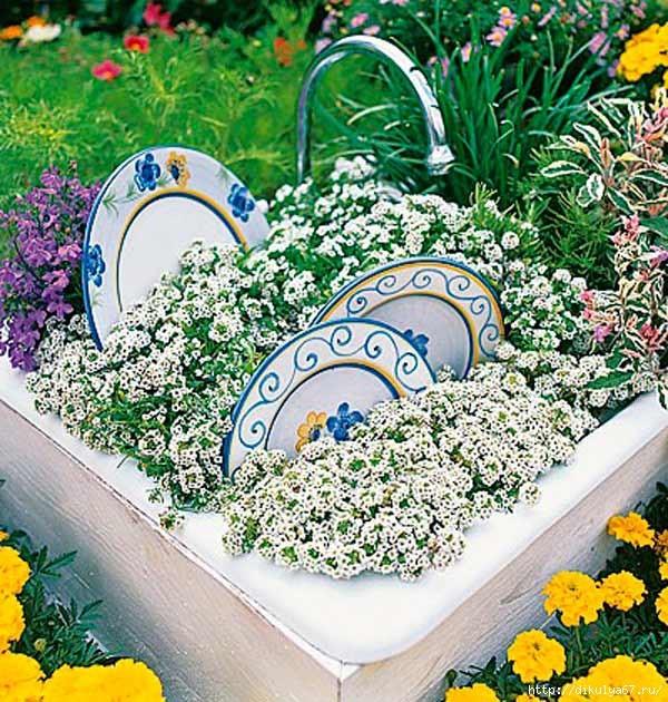 Фото как оформить сад своими руками