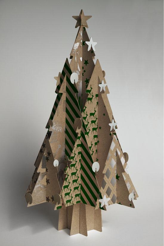 Елки из картона фото