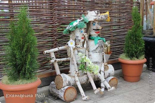 Деревянный человечек для сада своими руками - Моя дача 89