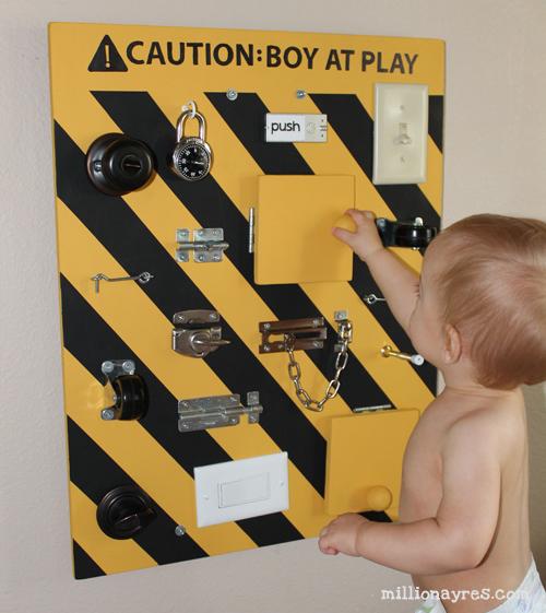 Доска с выключателями для малыша своими руками