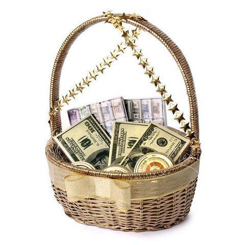 Корзинки с деньгами своими руками