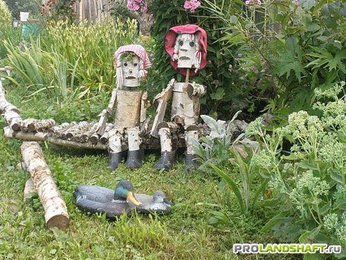 Как сделать человечка в саду - Skaruch.ru