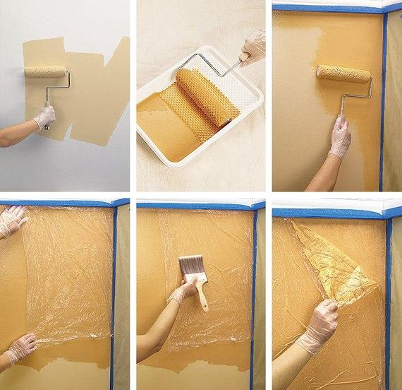 Покраска стен дизайн фото своими руками