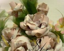 Цветы из рублей