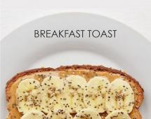 Бутерброд с бананом, миндальным маслом и кунжутом