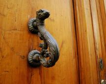 ручки дверные бронза