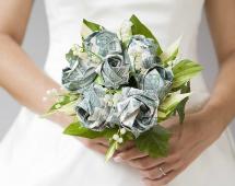 Денежный букет на свадьбу
