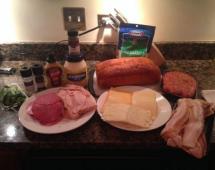 Ингредиенты для бутерброда - пирога
