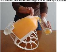 Устройство для наливания сока