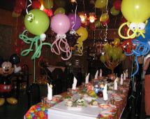 Оформление детского праздника шариками