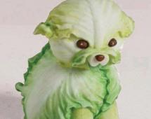 Съедобный щенок из капусты