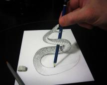 Змея - обманка