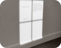 Надпись на стекле