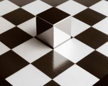 Иллюзия кубика на шахматном поле