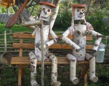 Человечки из дерева своими руками 255