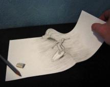 Иллюзия карандашом - серфинг