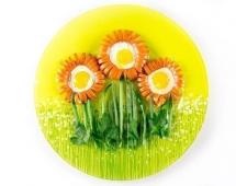 Желток в виде цветков