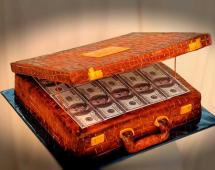 Картинка чемодан и деньги