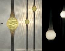 Лампа в сетке