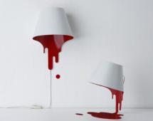 Лампа с кровью