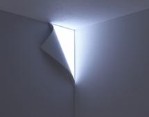 Оригинальный отворот обоев светится