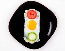 Необычная яичница - светофор