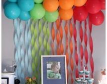 Градиент из шаров на день рождения