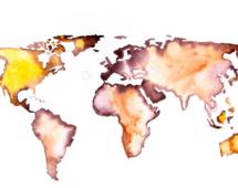 Акварельная карта мира - Елена Романова