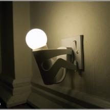 Светильник - человечек в розетке